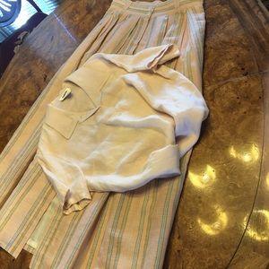 Talbots Linen Blouse size 8/Skirt Size 10